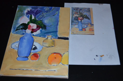Artist study-Cezanne-Blue Vase-3