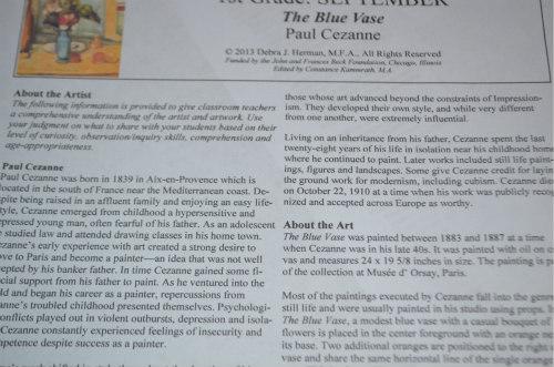 Artist Study-Cezanne-Blue Vase-7