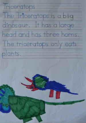 dinosaur unit study-triceratops-writing 3