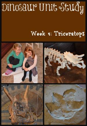 Dinosaur unit study, triceratops